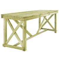 vidaXL Puutarhapöytä 160x79x75 cm puu