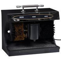 vidaXL Sähkökäyttöinen kengänkiillotuskone täysin automaattinen musta
