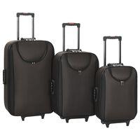 vidaXL Pehmeäpintaiset matkalaukut 3 kpl ruskea Oxford kangas