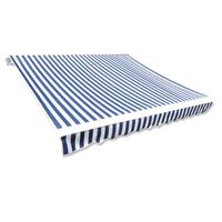 vidaXL Markiisikangas sininen & valkoinen 3 x 2,5 m (ei sisällä runkoa)