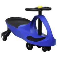 vidaXL Ajettava leluauto kääntökahvalla ja torvella sininen