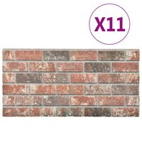 vidaXL 3D-seinäpaneelit tummanruskea ja harmaa tiilikuvio 11 kpl EPS