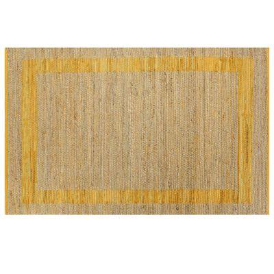 vidaXL Käsintehty juuttimatto keltainen 160x230 cm