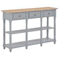 vidaXL Sivupöytä harmaa 120x30x76 cm MDF
