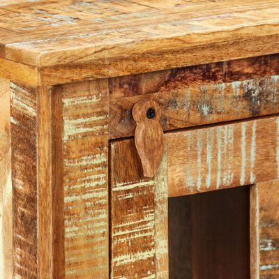 vidaXL Seinäkaappi kierrätetty puu 44x21x72 cm