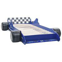 vidaXL Lastensänky kilpa-auto 90x200 cm sininen