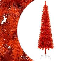 vidaXL Ohut joulukuusi punainen 210 cm