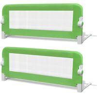 vidaXL Turvalaita sänkyyn 2 kpl vihreä 102x42 cm