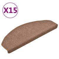 vidaXL Porrasmatot 15 kpl ruskea 65x24x4 cm