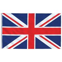 vidaXL Yhdistyneen kuningaskunnan lippu 90x150 cm
