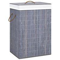 vidaXL Bambu pyykkikori harmaa 72 l