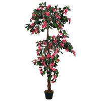 vidaXL Tekokukka ruukulla alppiruusu pinkki 165 cm