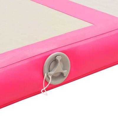 vidaXL Täytettävä voimistelumatto pumpulla 800x100x10 cm PVC pinkki, Pink
