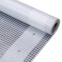vidaXL Leno suojapeite 260 g/m² 2x2 m valkoinen