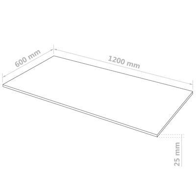 vidaXL MDF-levyt 2 kpl suorakaide 120x60 cm 25 mm