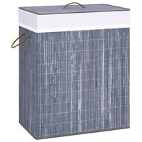 vidaXL Bambu pyykkikori harmaa 100 l