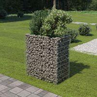 vidaXL Korotettu kivikori/kukkalaatikko galvanoitu teräs 90x50x100 cm