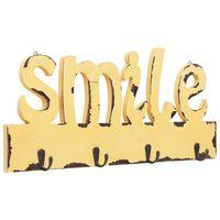 vidaXL Seinälle kiinnitettävä naulakko SMILE 50x23 cm