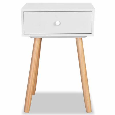 vidaXL Yöpöydät 2 kpl mänty 40x30x61 cm Valkoinen