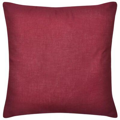 Viininpunainen Tyynynpäällinen 4 kpl Puuvilla 80 x 80 cm