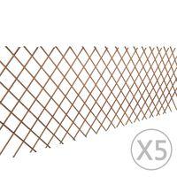 vidaXL Pajusäleikköaita 5 kpl 180x90 cm