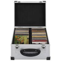 vidaXL CD-kotelo 40 CD-levylle alumiini ABS hopea