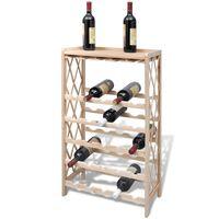 vidaXL Viinipulloteline 25 pullolle täysi kuusi