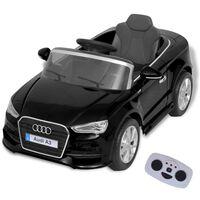 vidaXL Sähköleluauto Kauko-ohjauksella Audi A3 Musta