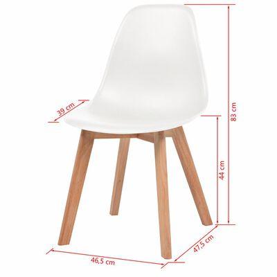 vidaXL Ruokapöydän tuolit 4 kpl valkoinen muovi