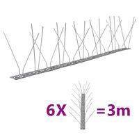 vidaXL 4-Riviset ruostumaton teräs lintu- & kyyhkyspiikit 6-sarja 3 m
