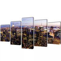 Taulusarja New York Taivaanranta Lintuperspektiivistä 100 x 50 cm