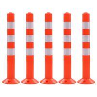 vidaXL Liikenteenohjaustolpat 5 kpl muovi 75 cm