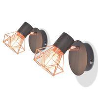 vidaXL Seinävalaisin 2 kpl 2 LED-lampulla 8 W