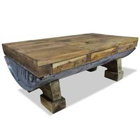 vidaXL Sohvapöytä Täysi kierrätyspuu 90x50x35 cm
