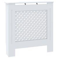 vidaXL MDF lämpöpatterin suoja valkoinen 78 cm