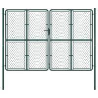 vidaXL Puutarhaportti teräs 300x200 cm vihreä