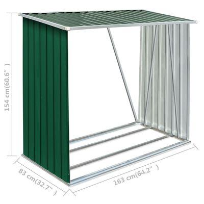 vidaXL Puuvaja galvanoitu teräs 163x83x154 cm vihreä