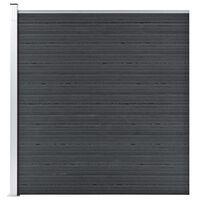 vidaXL Puutarha-aita WPC 180x186 cm harmaa