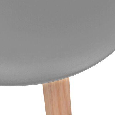 vidaXL Ruokapöydän tuolit 2 kpl harmaa muovi
