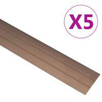 vidaXL Peitelistat 5 kpl alumiini 90 cm ruskea