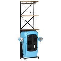 vidaXL Traktoriviinikaappi sininen 49x31x170cm täysi mangopuu