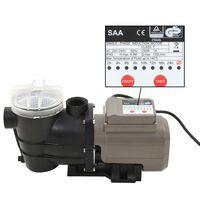 vidaXL Uima-altaan pumppu ajastimella musta 0,25 HV 8 000 l/h