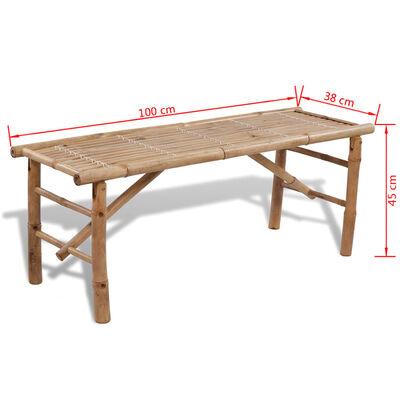 vidaXL Olutpöytä 2:lla penkillä 100 cm bambu