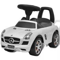 Mercedes Benz Valkoinen Lasten Jalkakäyttöinen Auto
