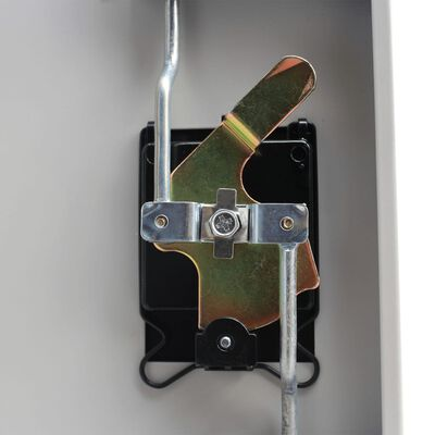 vidaXL Lukkokaappi 2 ovella teräs 90x40x180 cm Harmaa