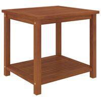 vidaXL Sivupöytä kiinteä akaasiapuu 45x45x45 cm