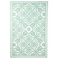 Esschert Design Ulkomatto 182x122 cm laatat vihreä ja valkoinen