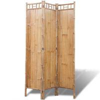 vidaXL Tilanjakaja 4 paneelia bambu