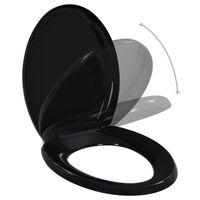 vidaXL Soft-close WC-istuin pikakiinnityksellä musta