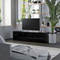 vidaXL TV-taso musta 120x34x30 cm lastulevy